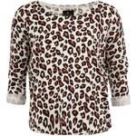 Leopardí svetr Maison Scotch s knoflíky na zádech