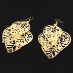 Giovanni Bertolucci Náušnice zlaté barvy s lístečky
