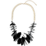 Topshop Black Hexagon Chip Necklace