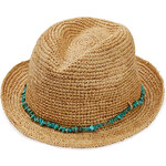 Melissa Odabash Embellished Raffia Hat