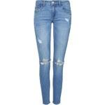Tally Weijl Blue Low Waist Skinny Jeans with Rips