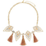 Topshop Tassel And Beaded Arrow Necklace