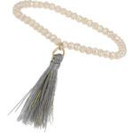 Topshop Bead And Tassel Drop Bracelet