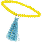Topshop Bead And Tassel Drop Bracelet