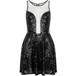 Topshop **New Moon Sequin and Mesh Dress by WYLDR