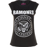 "Tally Weijl Black ""Ramones"" Print Sleeveless Top"