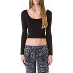 Tally Weijl Black Crop Top with Long Sleeves