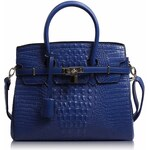 Modrá kabelka v imitaci kroko LS Fashion LS00140C modrá