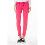 Tally Weijl Pink Button & Zip Ankle Pants