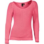 HEINE dámský růžový svetr se vzorem, svetr se slevou