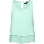 Tally Weijl Mint Green Sheer Top with Pleat Layer
