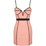 Topshop **Contrast Binding Bustier Bodycon Dress by Rare