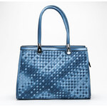 SCHILO-JOLIE Proplétaná modrá kabelka - D5036K /T63