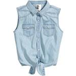 H&M Sleeveless denim shirt