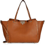 Valentino Leather Rockstud Tote with Shoulder Strap