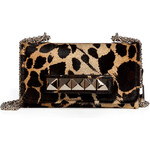Valentino Haircalf Rockstud Shoulder Bag