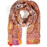 Etro Linen-Silk Printed Scarf