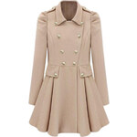 ROMWE Double-breasted Cream Trench Coat