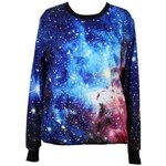 ROMWE Galsxy Print Loose Style Pullover