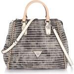 Guess Amelle Retro Satchel Striped Denim Bag