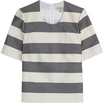 Burberry London Silk-Cotton Striped Top