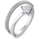 Delfina Delettrez Marry Me 18kt White Gold Ring with Diamonds