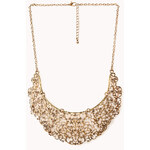 Forever 21 Antiqued Cutout Filigree Necklace