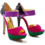 BETLER Skvostné barevné sandále, E185F