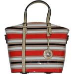 Briciole Módní dámská kabelka s proužky, 404 RED