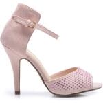 N - A Semišové růžové sandály, 100-320P