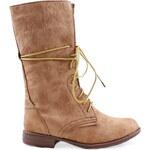 Vysoké béžové boty 858551KH Velikost: 36