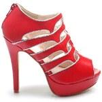 SERGIO TODZI Nádherně řešené červené sandály, vel. 39