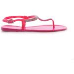 FGM PARIS Krásně zdobené růžové sandály, OK-07F