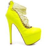 SERGIO TODZI Sexy žluté kotníčkové boty, K038Y