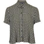 Topshop Spot Print Swing Shirt