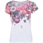 Krémové květované tričko ONLY Red Flowers