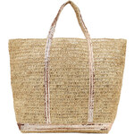 Vanessa Bruno Raffia Tote with Sequin Embellishment