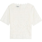 Valentino Cotton Top with Lace