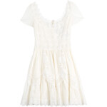 Valentino Cotton Dress with Broderie Anglaise