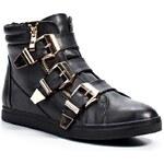 Timeless Černé dámské kotníkové boty se zipem Timeless