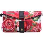 Růžová menší crossbody kabelka/psaníčko s barevnými ornamenty Desigual