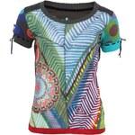Barevné tričko s pletenými rukávy Desigual Buri