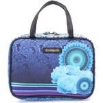 Modrá vzorovaná kosmetická taška Desigual