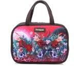 Růžová vzorovaná kosmetická taška Desigual