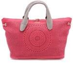 Růžová perforovaná kabelka Desigual