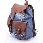Džínově modrý batoh s hnědými detaily Desigual
