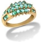 Prsten se smaragdem ze 14k zlata