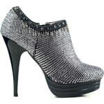 Glam Dámské kotníkové boty stříbrné - 37