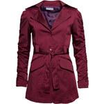 Podzimní vínový dámský kabát - MGlamorous by Glam