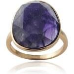 Klenota Ametystový pozlacený prsten